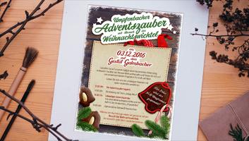 Adventszauber, Weihnachtsmarkt, Neunkirchen, Palakt, Anzeige, z.art, werbung, design, zart, Miltenberg, Wertheim,