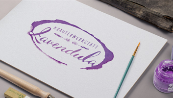 Logo für die Kräuterwerkstatt Lavendula in Eltville von z.art werbung & design